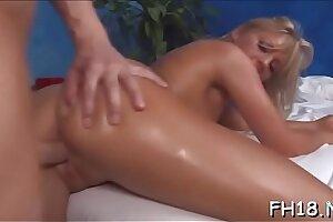 Lovely 18 year elder asian damsel gets plowed stiff by her masseur