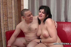 Assfuck audition of an Unexperienced french duo with a obese splatter super-bitch stiff plugged