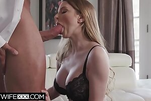 Husband Sees Dude Spunk On Fat Titty Wife Bunny