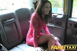 Fake Cab Super-hot nubile in red dress and stockings