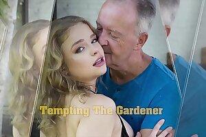 Teenage deep throat and steamy deep labia plowing with grumpy grandpa