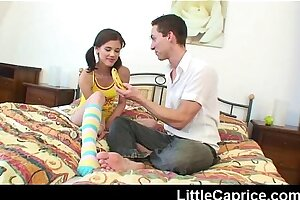 Little Caprice gets mouthful of super-hot man spunk