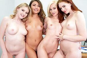 Lesbian Teenagers Having Orgy