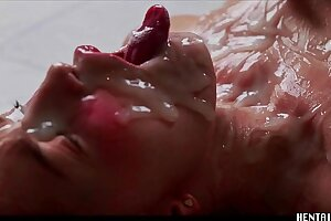 Jia Lissa extreme bukkake - real life hentai - impressively sizzling teen crimson head