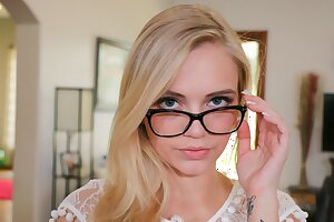 Hot Nerdy Puny Blonde Nubile Gets Cash To Fuck Photographer Point of view