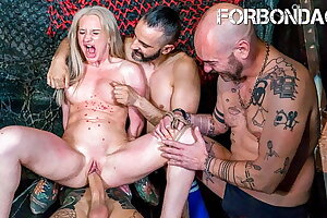 CrowdBondage -BDSM Gonzo Fucking Torment For Angela Vidal