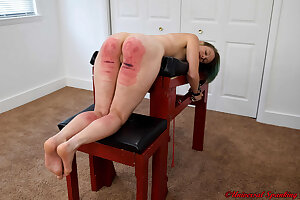 The Caning of Alecia Love - Spanking