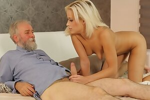 DADDY4K. Tender lady with suntanned boy gets in hands of older