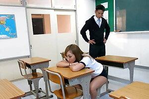 Asian nymph Reira Sakurai, sucks dick, uncensored