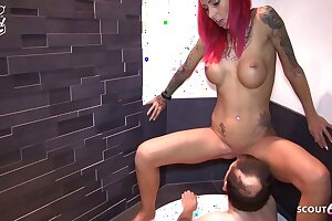 Gross Client Drinks Pee of German Nubile Hooker and Cums on Her Pussy